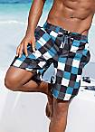 Buffalo Checked Swim Shorts