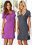 Vivance Pack of 2 Short Sleeve Nighties