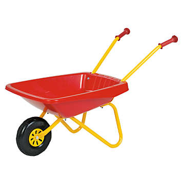 Red & Yellow Metal Wheelbarrow