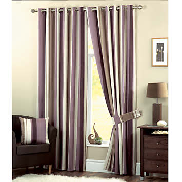 Whitworth Pair of Eyelet Lined Curtains