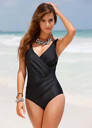 Wrap Effect Control Swimwear