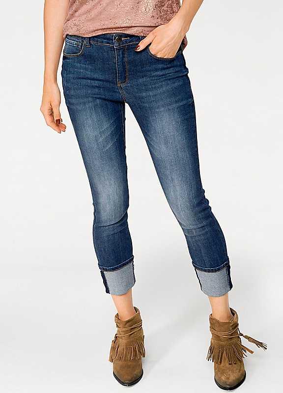 Ashley Brooke Bodyform Cropped Straight Leg Jeans