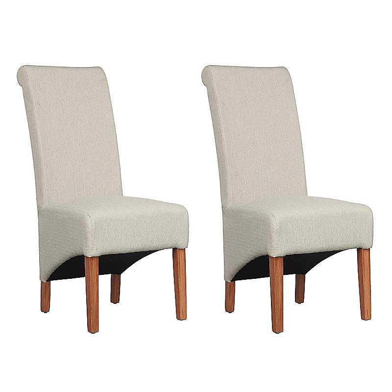 Pair of Krista Herringbone Dining Chairs