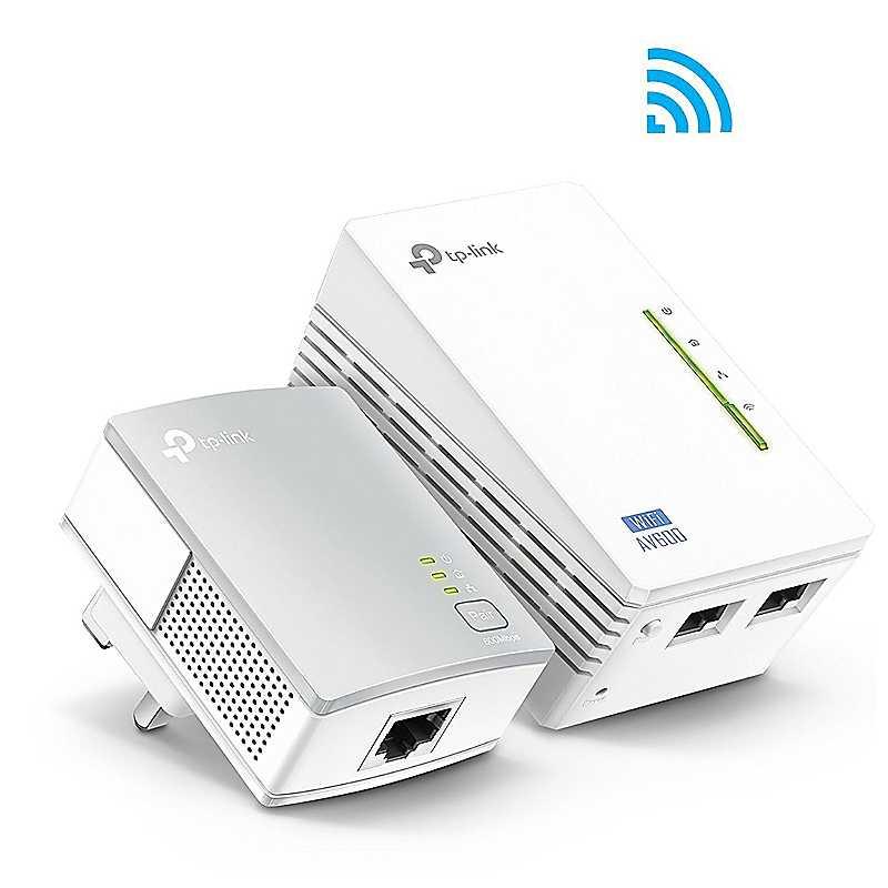 TP Link AV600 Powerline Adaptor with 300mbps Wi-Fi Extender Kit