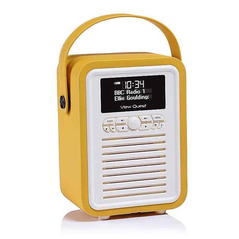 VQ Retro Mini Radio - Mustard