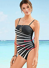 Diagonal Stripe Shaper Swimsuit