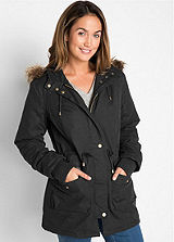 Drawstring Detailed Short Parka