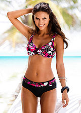 LASCANA Tropical Print Underwired Bikini
