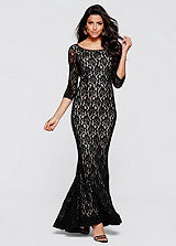Lace Detailed Evening Gown