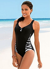 Zebra Side Panel Swimsuit